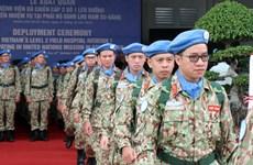 Maintien de la paix: des casques bleus vietnamiens partent pour le Soudan du Sud