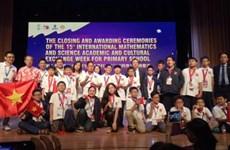 Maths et Sciences : excellente réussite des élèves vietnamiens à l'IMSO 2018