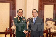 Coopération efficace entre les deux forces armées Vietnam-Laos