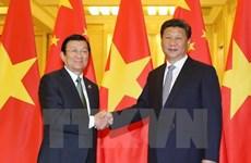Rencontre Truong Tan Sang-Xi Jinping