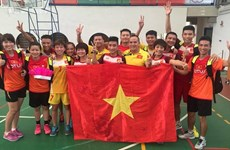 Deux médailles d'or pour le Vietnam au Championnat du monde de plum-foot