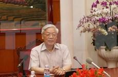 Le Secrétaire général du PCV Nguyen Phu Trong part pour le Japon