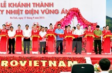 Nguyen Tan Dung à la cérémonie d'inauguration de la centrale thermoélectrique de Vung Ang 1