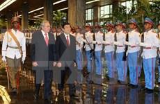 Vietnam-Cuba : entretien entre Truong Tan Sang et Raul Castro