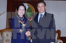 La vice-présidente Nguyen Thi Doan rencontre le vice-président de l'AN laotienne