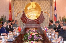La vice-présidente Nguyen Thi Doan en visite au Laos