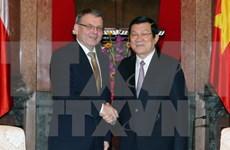 Le président Truong Tan Sang reçoit le ministre tchèque des AE