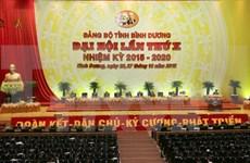 Congrès de l'organisation du PCV pour Binh Duong