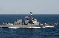 Mer Orientale : un navire américain près des îlots construits illégalement par la Chine