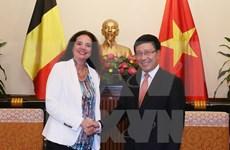 Le chef de la diplomatie rencontre des responsables britannique, belge et islandais