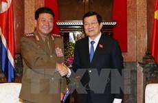 Le chef de l'État reçoit le ministre nord-coréen des Forces armées populaires
