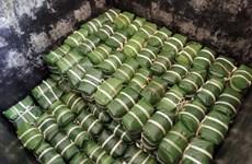 Le bánh chưng du village de Tranh Khuc
