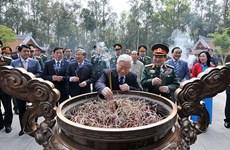 Le leader du PCV rend hommage au Président Ho Chi Minh à Ba Vi