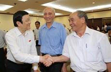 Le chef de l'État rencontre l'électorat de Hô Chi Minh-Ville