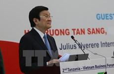 Le président Truong Tan Sang visite la zone économique exclusive Benjamin