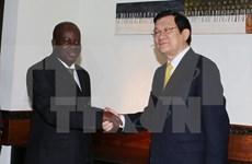 Entrevue entre Truong Tan Sang et le président de l'AN tanzanienne