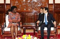 Le chef de l'Etat reçoit la directrice nationale de la Banque mondiale