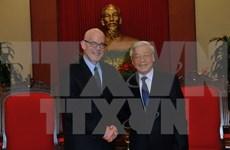 Le leader du PCV rencontre le président du Parti communiste des Etats-Unis