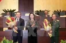 Do Ba Ty et Phung Quoc Hien élus vice-présidents de l'Assemblée nationale
