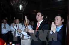 Le président Tran Dai Quang assiste à l'ouverture de la fête traditionnelle de Truong Yen