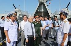 Le secrétaire général en visite de travail dans la 4e zone navale