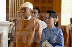 Le président birman U Htin Kyaw effectue une visite d'Etat au Laos
