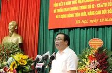 Nouvelle Ruralité : 52,07% des communes de Hanoi satisfont aux normes
