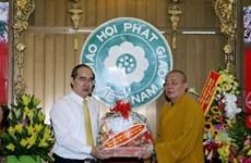 Vesak 2016: le chef du FPV formule ses voeux à l'Eglise bouddhique du Vietnam