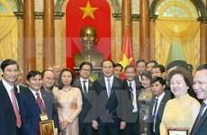 Le président rencontre des entrepreneurs exemplaires