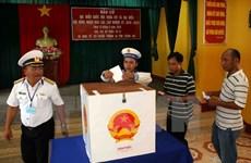 Les élections anticipées dans le district insulaire de Truong Sa