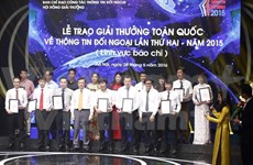 Remise du 2e Prix national de l'information pour l'étranger