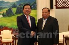 Une délégation de Ho Chi Minh-Ville reçue par les dirigeants laotiens