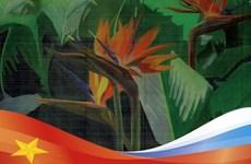 Des peintures vietnamiennes sur soie présentées en Russie