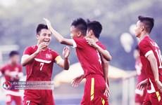 L'équipe vietnamienne à l'entraînement pour le Championnat d'Asie du Sud-Est 2016