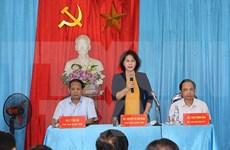 La présidente de l'Assemblée nationale Nguyen Thi Kim Ngan se rend à Bac Kan