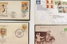 Les timbres postaux à l'effigie du Président Hô Chi Minh