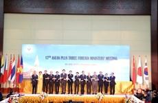 L'ASEAN + 3 s'efforce de porter sa coopération à une nouvelle hauteur