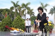 La présidente de l'Assemblée nationale rend hommage aux morts pour la Patrie