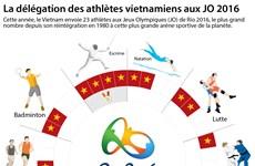 La délégation des athlètes vietnamiens aux JO 2016