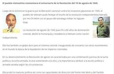 La presse argentine relate la Révolution d'Août 1945 du Vietnam