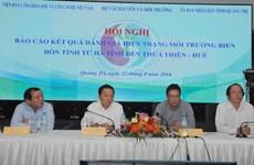 """""""Pour l'essentiel, l'environnement marin de quatre provinces de Hà Tinh à Thua Thiên-Huê est sûr"""""""