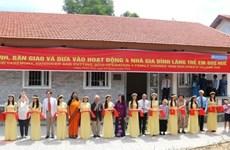 Mise en service de quatre maisons du cœur dans le Village d'enfants SOS de Huê