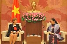 La vice-présidente de l'AN Tong Thi Phong reçoit la délégation du Parlement danois