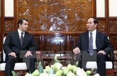 Le président Tran Dai Quang reçoit l'ambassadeur d'Azerbaïdjan