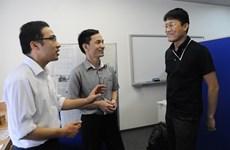 Deux Vietnamiens à l'Institut japonais de la police en mer