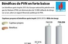 Les bénéfices de PetroVietnam en forte baisse