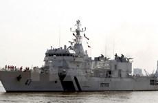 Le navire Samrat des Garde-côtes indiennes à Da Nang