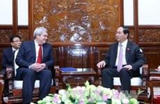 Le président Tran Dai Quang reçoit le président du Parti communiste tchèque-Moravie