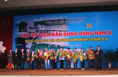 Ouverture des Championnats de tir d'Asie du Sud-Est 2016 à Hanoi