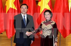 Entretien Nguyen Thi Kim Ngan - Zhang Dejiang